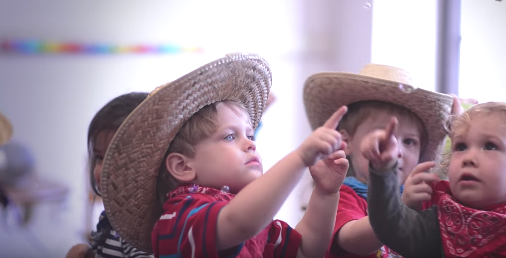 babies with cowboy hats