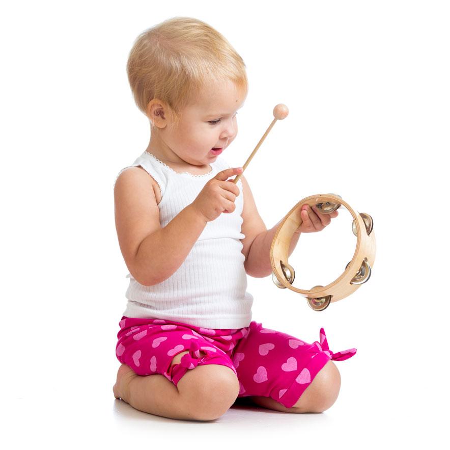 boy with tambourine