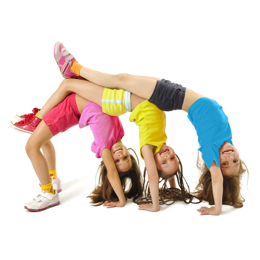 girls stretching